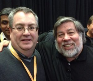 Bill Hartzer with Steve Wozniak